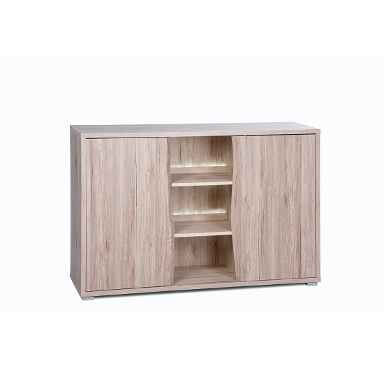 Villa Sideboard In Sanremo Oak With 2 Doors And LED Lighting_4