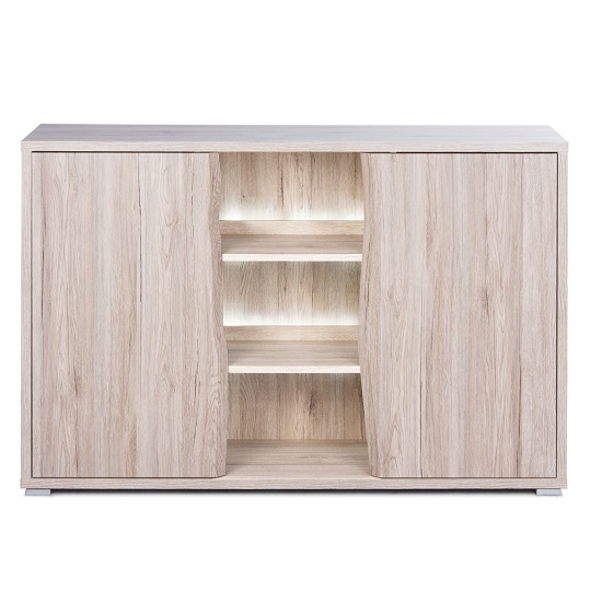 Villa Sideboard In Sanremo Oak With 2 Doors And LED Lighting_2
