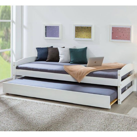 Vindas Wooden Function Single Bed In White