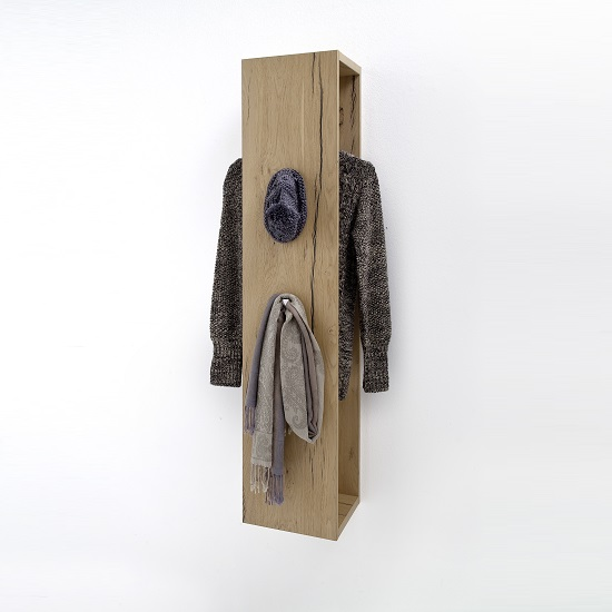 Viola Wooden Wall Mounted Coat Rack In Oak