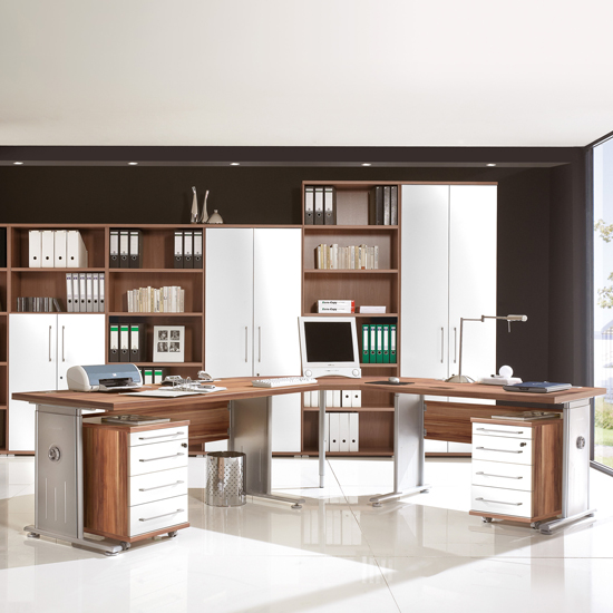 vision walnut metal - Where To Place Contemporary Home Office Desks And How To Make Them Work In Your Interior