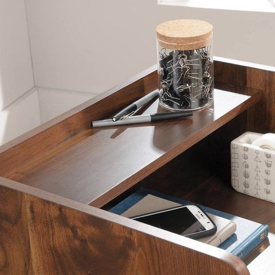 Vittoria Storage Stand In Walnut And Black With 2 Drawers_4