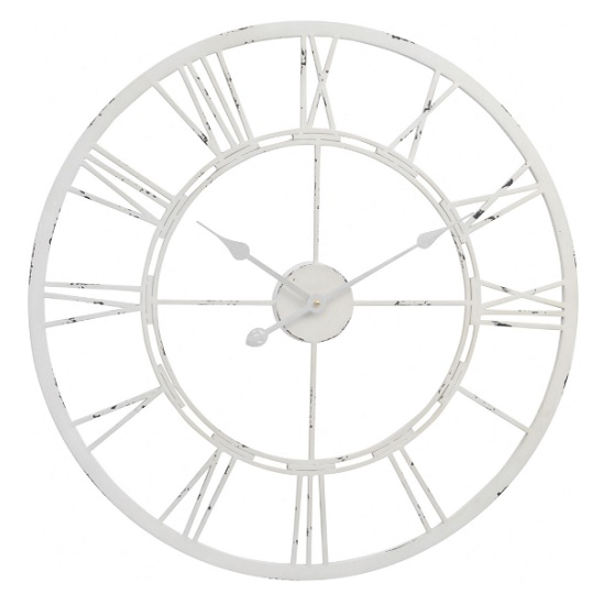 Viva Contemporary Wall Clock In Antique Cream