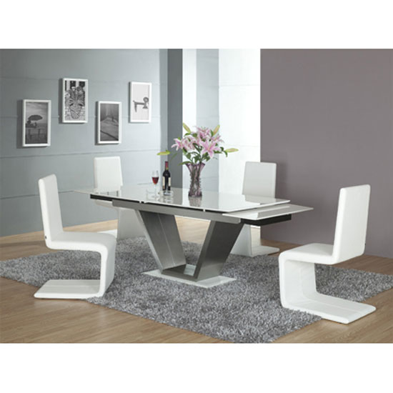 viva white dining ext with chairs - A Dining Table for Your Small Space