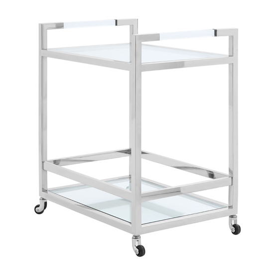Sceptrum 2 Tiers Butler Bar Trolley In Silver
