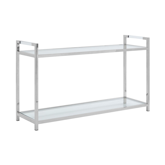 Sceptrum Glass Console Table In Silver