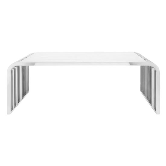 Vogue Slatted Coffee Table In Silver