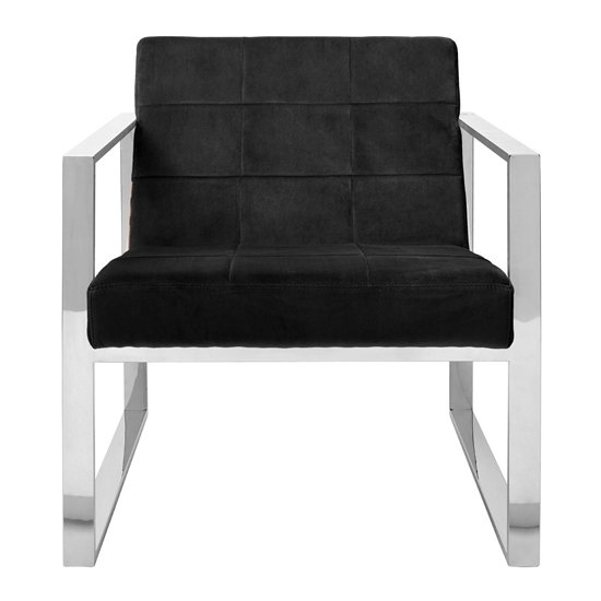 Sceptrum Velvet Cocktail Chair In Black