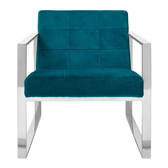 Sceptrum Velvet Cocktail Chair In Teal