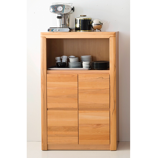 Vrox Wooden 2 Doors Office Storage Cabinet In Heartwood Beech