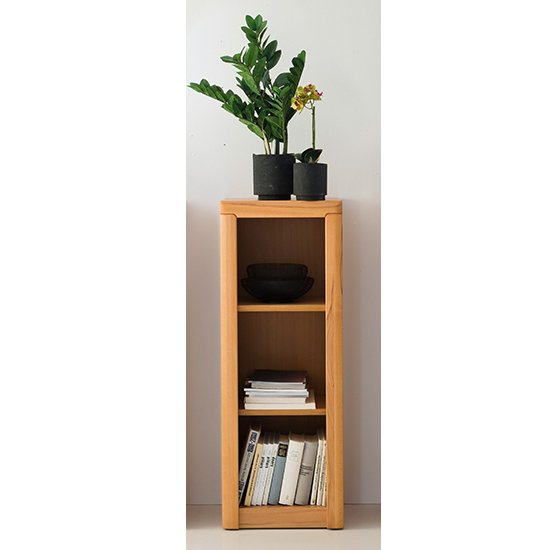 Vrox Wooden Floor Office Shelving Unit In Heartwood Beech