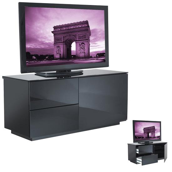 Parin Black Gloss 2 Drawer TV Stand