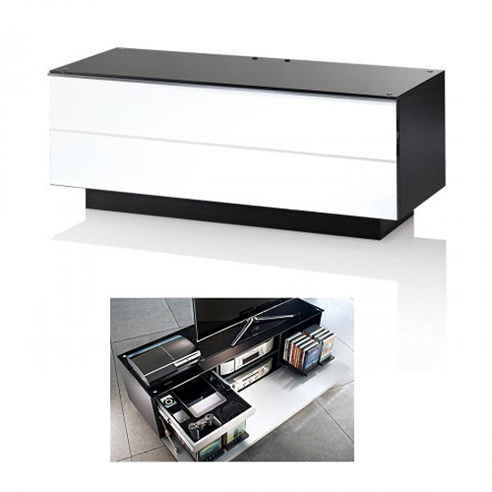 White GS 110 WH TV Stand