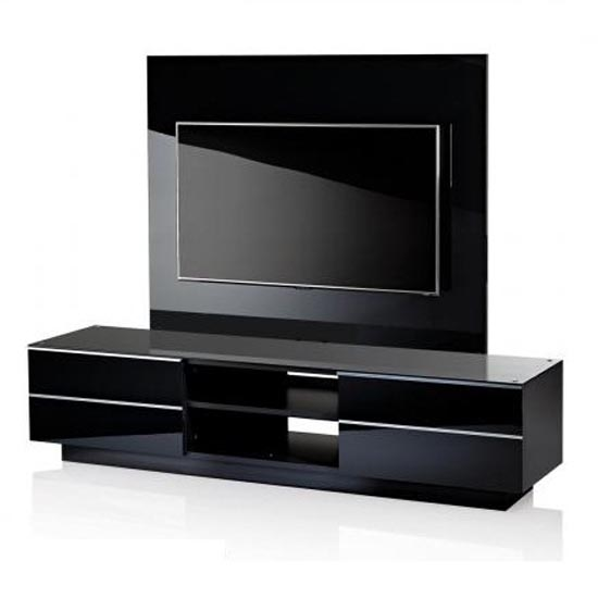 Black G-S-180 TV Stand With Background Plate