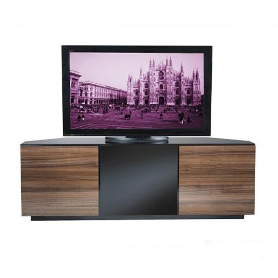 Wilson Corner TV Stands In Walnut