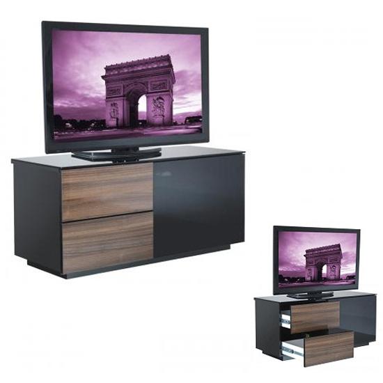 Access walnut tv stand furniture summer for Furniture of america torena