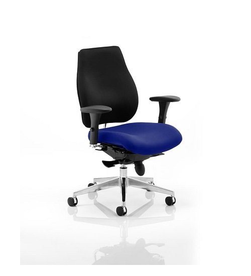 Wadena Office Chair In  Stevia Blue Colour Seat