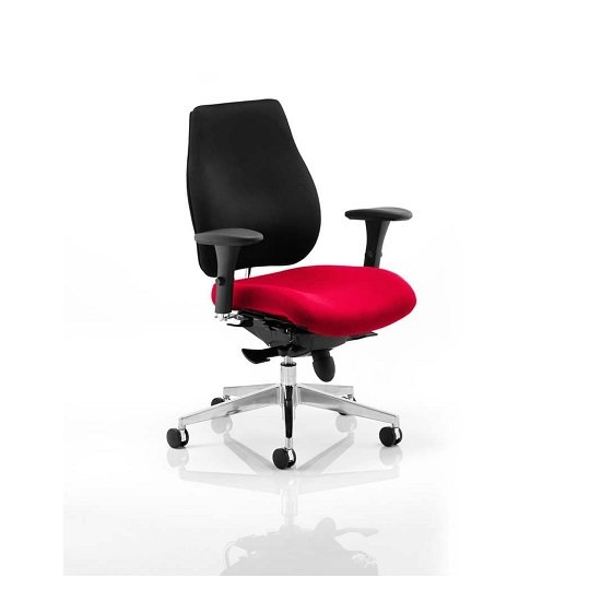 Wadena Office Chair In Bergamot Cherry Colour Seat