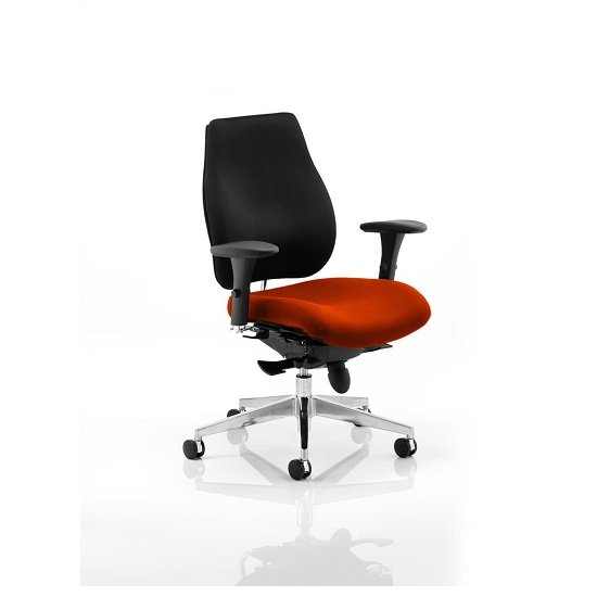 Wadena Office Chair In  Tobasco Red Colour Seat