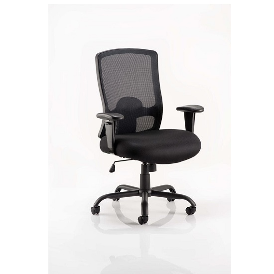 Wadkins Office Chair In Black With Arms