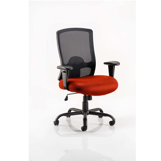 Wadkins Office Chair In Tobasco Red Seat