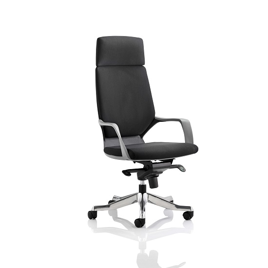 Wafford Office Chair In Black With Nylon Fixed Armrest