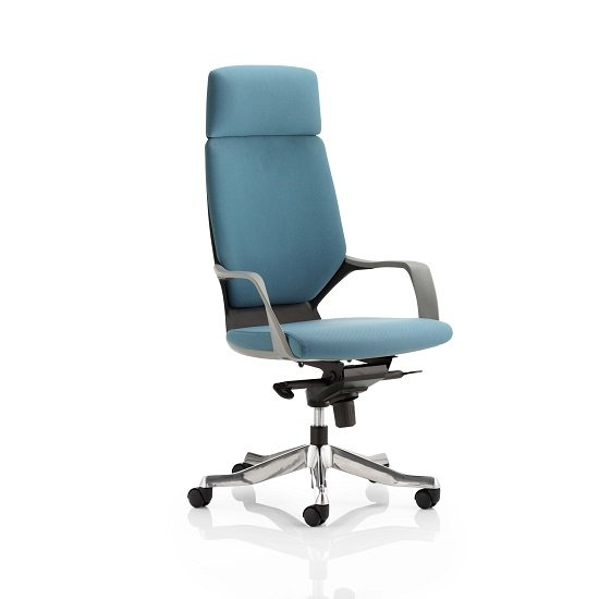 Wafford Office Chair In Blue With Nylon Fixed Armrest