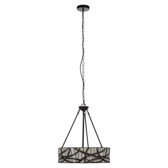 View Waldron branch 1 pendant light in bronze tone