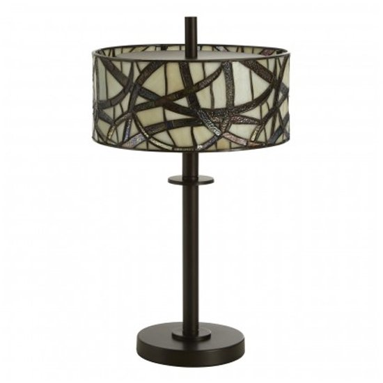 Waldron Branch Table Lamp In Bronze Tone