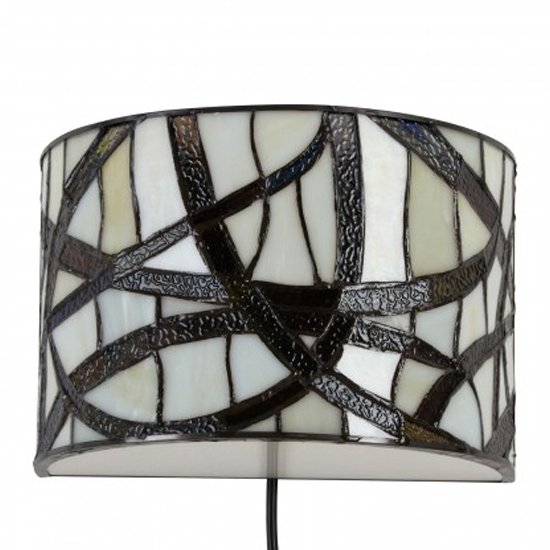 View Waldron branch wall light in bronze tone