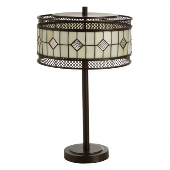 Waldron Diamond Table Lamp In Bronze Tone