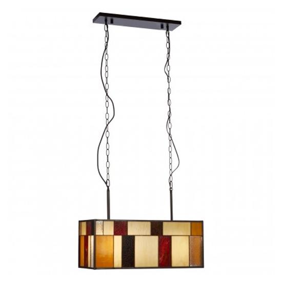 View Waldron rectangular 1 pendant light in bronze tone