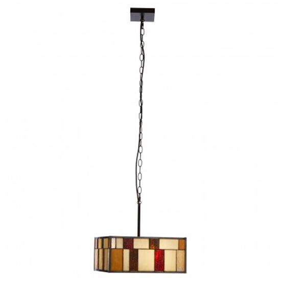 View Waldron square 1 pendant light in bronze tone