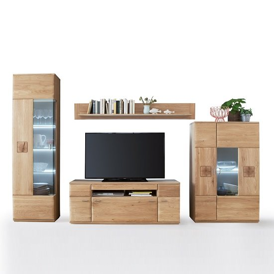 Wales Living Room Set 1 In Bianco Oak With LED Lighting_2