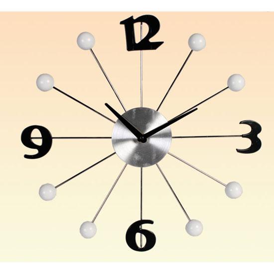 contemporary aluminium wall clock