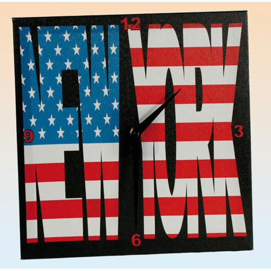 new york canvas wall clock