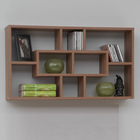 office wall shelves lasse bookcase wall shelves in plumtree with 8 compartments 23974