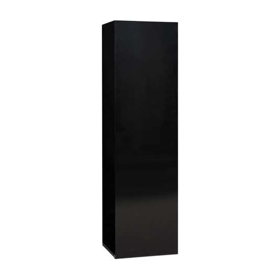 Elisa Wall Cupboard In High Gloss Black With 1 Door