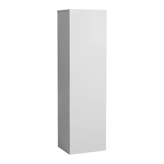 Elisa Wall Cupboard In High Gloss White With 1 Door