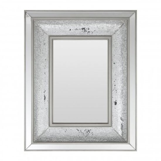 Wallisian Wall Bedroom Mirror In Antique Silver Frame