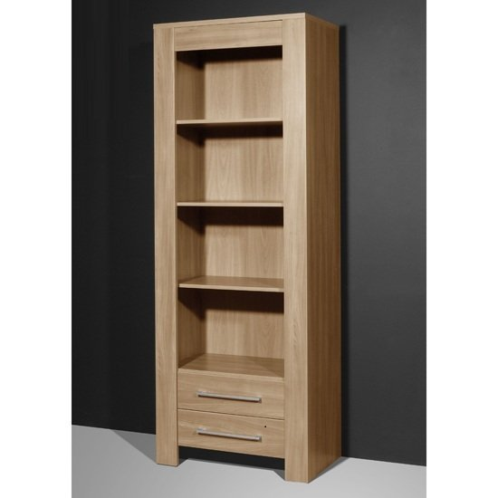 monte carlo tall display bookcase in royal walnut