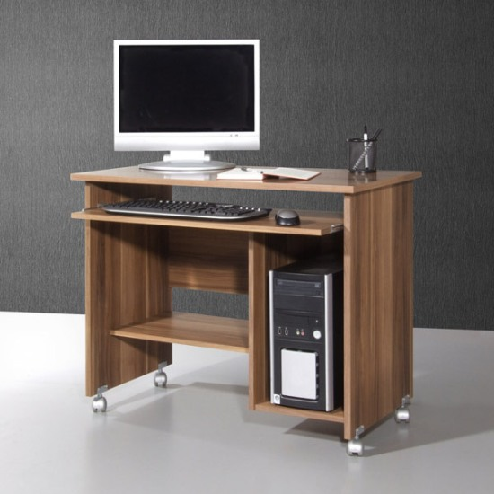 Details about Compact Walnut Computer Trolley, Computer Desk (482-88)