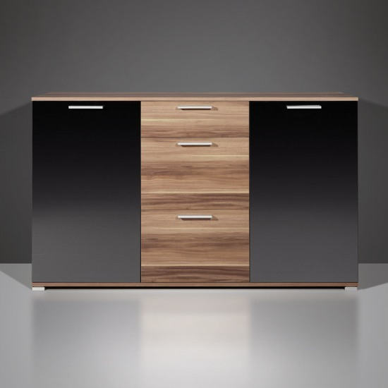 Limit modern sideboard in black and walnut with drawers 4758 for Küchensideboard