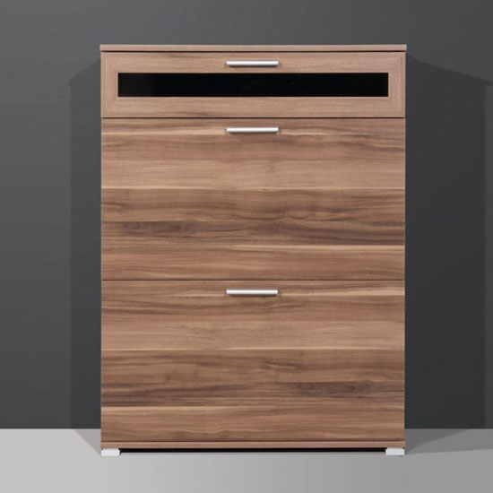 walnut shoe cabinet 1176 88 - How To Decorate A Small or Long Hallway