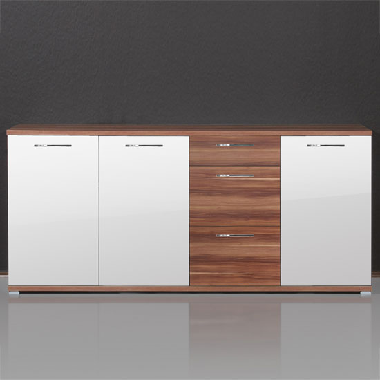 walnut white dining room sideboard 1518 94 - Free Standing Storage Units For Your Living Room