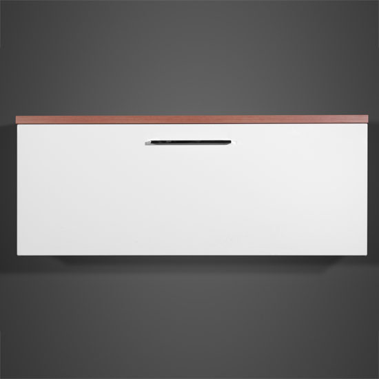 Cool Wall Cabinet In Walnut And Gloss White