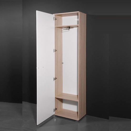 Carola Core Ash/White Wardrobe, 1337-144