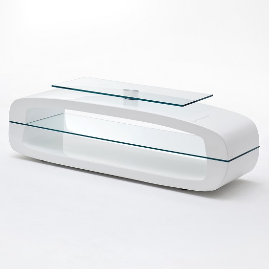 Warmingham Modern Glass TV Stand In High Gloss White_2
