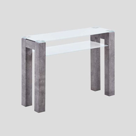 Warren Medium Console Table With Concrete Effect Base