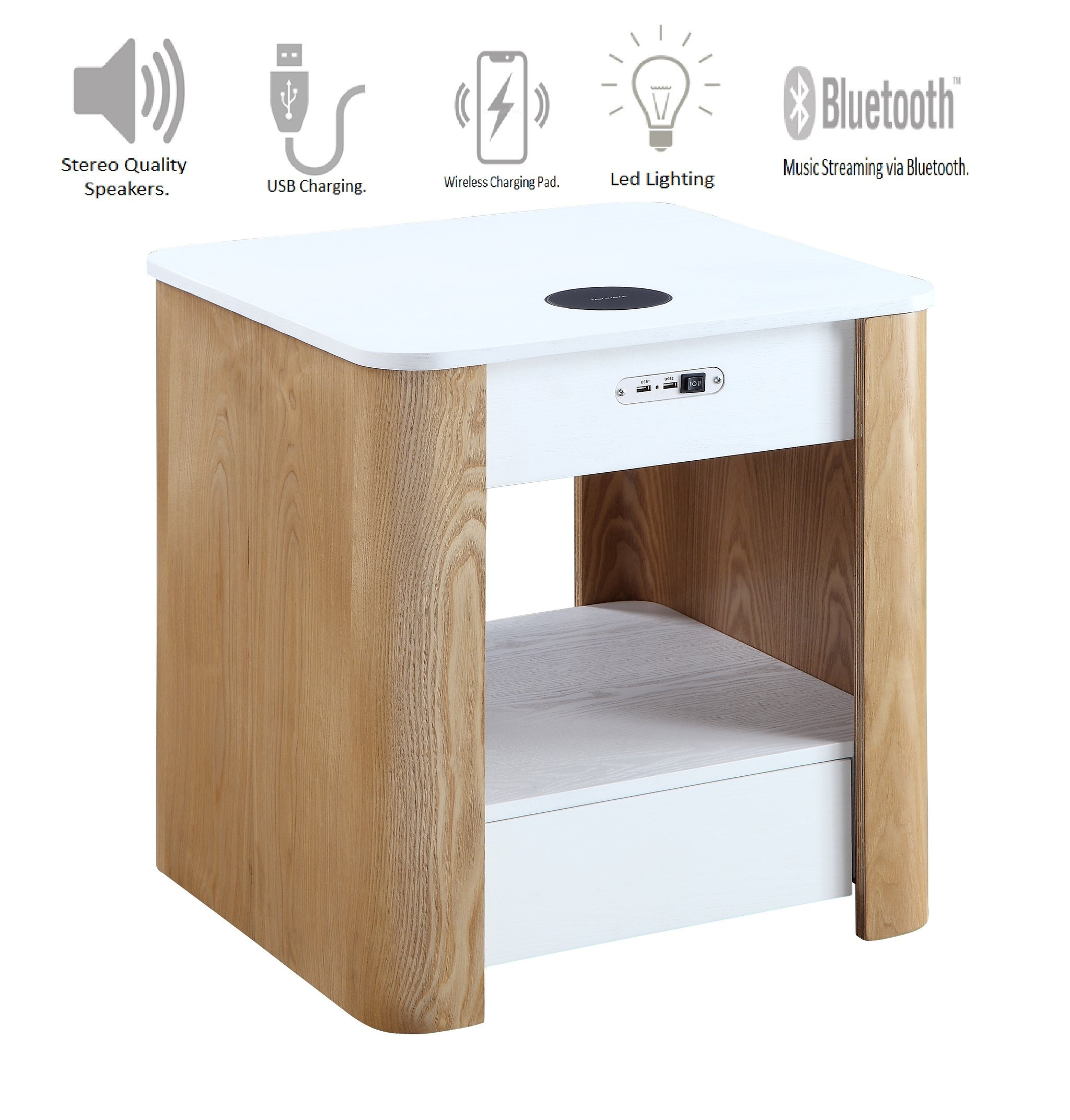 Wasdale Smart Bedside Table In Ash And White With Light_4
